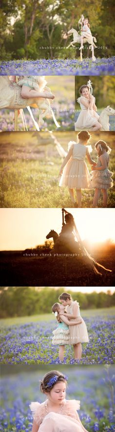 © chubby cheek photography child sister photography outdoors horse prop