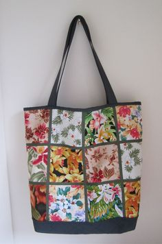 Orchid Patchwork Totebag.via Etsy.