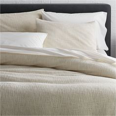 Shop Lindstrom Ivory Duvet Covers and Pillow Shams.  Beautiful Lindstrom offers simple elegance with uniquely crafted, three-dimensional texture.