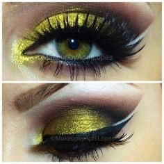 Beautiful eye makeup … More