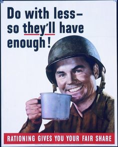 U.S. coffee rationing in World War II made more coffee available for soldiers.