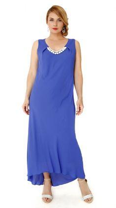 μπλε φόρεμα αμπιγιέ