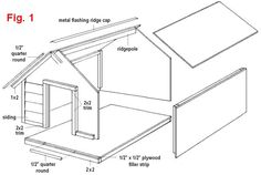 Dog House Plans Exploded View   Furbaby Things   Pinterest   Dog        CLASSIC STYLE DOG HOUSE PLANS   INSTRUCTIONS