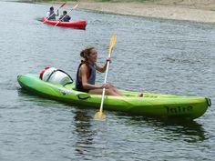 Disfrutando del Sella en una canoa individual!