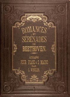 michaelmoonsbookshop:  Embossed binding of Beethoven's Music c1875