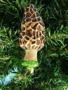 New Clip-On Glass Morel Mushroom Hunting Forager Christmas Tree Ornament   eBay