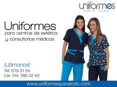 ¡Tú lo imaginas y con nuestra ayuda lo hacemos realidad! Diseñamos uniformes a tu gusto y medida. ¡Contáctanos! #UniformesParaTodo #Colombia #Salud #Estética #Custom