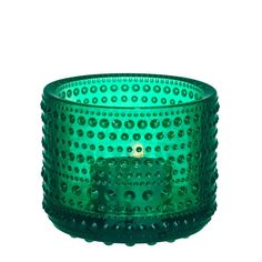 Emerald glass kastehelmi tea light holder. Stunning rich shed and pretty votive, also grey for a little dish or plant a baby bulb! Iittala votives for ambient candlelight.