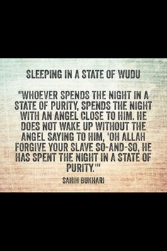how important it is sleeping with wudu !