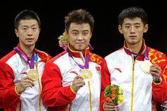 Ma Long and Zhang Jike Photo - Olympics Day 12 - Table Tennis