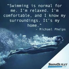 Don't like Michael Phelps, but I think he speaks for all swimmers Swimming Funny, I Love Swimming, Swimming Tips, Swimming Sport, Competitive Swimming, Synchronized Swimming, Michael Phelps Swimming, Swimmer Quotes, Olympic Swimmers