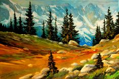 Paintings - David Langevin Artworks Inc. Contemporary Landscape, Landscape Art, Landscape Paintings, Watercolor Paintings, Acrylic Paintings, Landscapes, Knife Painting, Canadian Artists, Learn To Paint