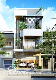 Modern House Designs for Small Blocks 50 Narrow Lot Houses that Transform A Skinny Exterior Into Architecture Design, Facade Design, Exterior Design, Farmhouse Architecture, Architecture Interiors, House Front Design, Small House Design, Modern House Design, Villa Design