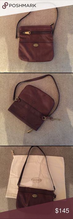 Fossil Bag Authentic FOSSIL Leather Bag Used Once, Like new Condition Fossil Bags Crossbody Bags