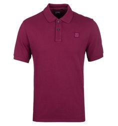 CP Company Cranberry Pique Polo Shirt