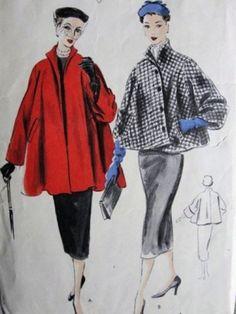 Swing coats, via Fifties Wedding