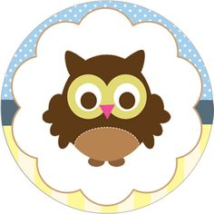 Owl Party Printables Cupcake Toppers
