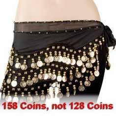 http://www.amazon.com/exec/obidos/ASIN/B003DCWHSA/pinsite-20 Black Chiffon Dangling Gold Coins Belly Dance Hip Scarf Best Price Free Shipping !!! OnLy 3.54$