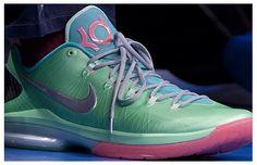 Nike KD V Elite Green/Blue-Pink mints, kd shoe, fashion, basketbal shoe, elit mint, nike shoes, mintpink, mint pink, nike kd