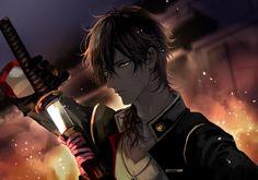 Cool Anime Guys, Hot Anime Boy, Anime Art Girl, Touken Ranbu Characters, Anime Characters, Anime Chibi, Manga Anime, Samurai Anime, Mutsunokami Yoshiyuki