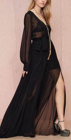 Sheer maxi gown