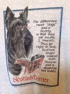 Scottie Scotty Dog Scottish Terrier Sweatshirt Jacket Coat Medium