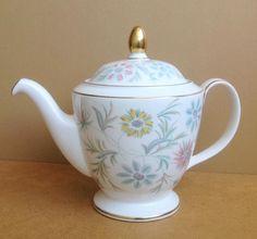 Minton Teapot Bone China Vanessa Pattern 1 5 Pint 1st Quality Perfect   eBay