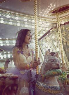 Raver girl at Electric Daisy Carnival 2011 in Las Vegas.