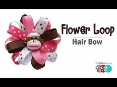 How to Make a Flower Loop Hair Bow - TheRibbonRetreat.com - YouTube