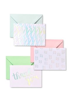 20 4 x 9.25 cards Gartner Studios Thank You for Your Business with Envelopes