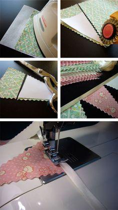 tutorial: fabric banner using gracies fabrics.