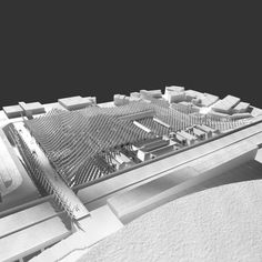 Kengo Kuma and OODA Win Competition to Redevelop Porto Slaughterhouse,Model. Image Courtesy of Kengo Kuma & Associates + OODA Win Competitions, Kengo Kuma, Arch Model, Metro Station, Art Archive, Local History, Model Building, Abandoned, The Neighbourhood
