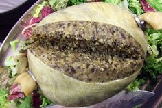 A reduced cholesterol version of haggis made with ground turkey and chicken livers or giblets. Haggis Recipe, Christmas In Scotland, Scotland Vacation, Visiting Scotland, Robert Burns, Scottish Recipes, Reduce Cholesterol, Dundee, The Dish