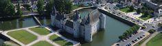Le château de Sully vu du ciel