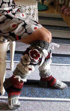 Over The Knee Socks Thigh High Socks Hand knit knee socks flower knee socks Flower socks rainbow socks woman leg warmers Hand knit socks Crochet Leg Warmers, Crochet Slippers, Knit Crochet, Wool Socks, Knitting Socks, Hand Knitting, Thigh High Socks, Knee Socks, Over The Knee