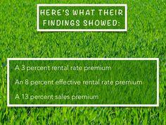 H ER E ' S W H AT TH E I R F I N D I N G S S H O W E D : • A 3 percent rental rate premium • An 8 percent effective rental...