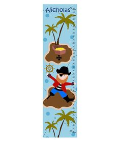 Take a look at this Pirate & Treasure Personalized Growth Chart by Green Leaf Art on #zulily today! $19.99