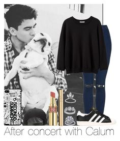 """After Concert With Calum"" by hazzgirl03 ❤ liked on Polyvore featuring beauty, Topshop, adidas, La Garçonne Moderne, Yves Saint Laurent and Dolce&Gabbana"