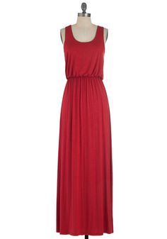 Breezy Night Stroll Dress in Red. The full moon lights your path as you stroll in this rich red maxi! #red #modcloth
