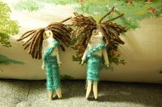 Central America-how to make worry dolls . Yes, these are girl scouts but you get the idea:)