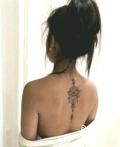 Small Neck Tattoos, Neck Tattoos Women, Cute Tattoos For Women, Sexy Tattoos, Tattoos For Guys, Back Of Neck Tattoos For Women, Mini Tattoos, Cute Tattoos On Back, Ankle Tattoos For Women Mandala