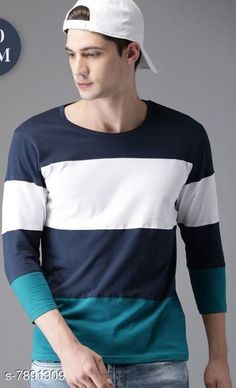 Checkout this latest Tshirts Product Name: *Attractive Men's T-Shirt* Fabric: Cotton Sleeve Length: Three-Quarter Sleeves Pattern: Printed Multipack: 1 Sizes: S, M (Chest Size: 38 in, Length Size: 27.5 in)  XL (Chest Size: 42 in, Length Size: 28.5 in)  Country of Origin: India Easy Returns Available In Case Of Any Issue   Catalog Rating: ★4 (513)  Catalog Name: Attractive Men's T-Shirts CatalogID_1296571 C70-SC1205 Code: 962-7891309-294