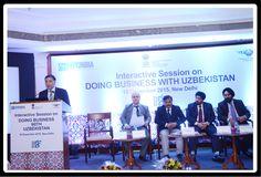 Mr. Avaz Khodjiev, Counselor (Trade & Economic) Embassy of the Uzbekistan giving the presentation.