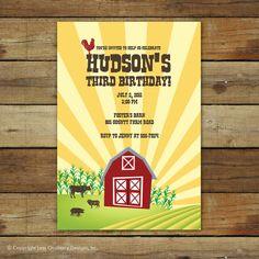 Farm party invite