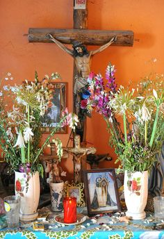 Mexican Home Altar Oaxaca - I have always admired the home altars of Mexican families to remember and honor their deceased loved ones - to start or add to your collection, visit us at www.mainlymexican.com