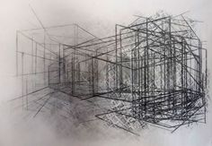 """""""(UN)DRAWING # 11"""" 2012-13, 60"""" x 40"""", Charcoal on paper -- http://cargocollective.com/flaviac/"""