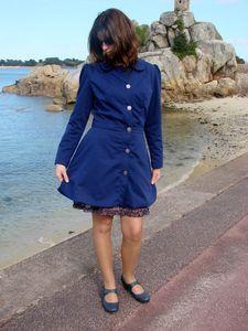 PAVOT gabardine bleue joviana