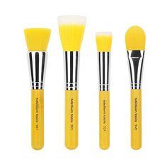 Bdellium Tools Yellow Bambu Brush Sets ❤ liked on Polyvore featuring beauty products, makeup, makeup tools, makeup brushes, pencil eyeliner, mineral makeup brush, set of brushes, angled makeup brush and slanted makeup brush