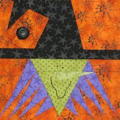 Witch Halloween Paper Piecing Pattern