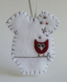 Baby's First Christmas Felt Onesie Ornament by myheartsdesire1871, $19.50